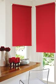 Kitchen Blinds Ideas 15 Collection Of Red Roman Blinds Kitchen Curtain Ideas