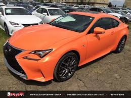 lexus rc 350 f sport for sale new orange solar flare 2015 lexus rc 350 awd f sport series 2
