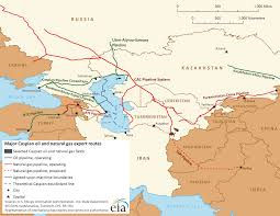 Central Asia Map by Map Of Major Caspian Oil And Natural Gas Export Routes Central