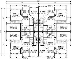 home building blueprints plan 18511wb 8 unit house plan with corner decks family house