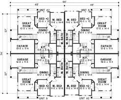 corner house plans plan 18511wb 8 unit house plan with corner decks family house