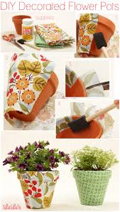 How To Decorate A Pot At Home Diy Decorated Flower Pots Fabric Covered Decorated Flower Pots