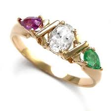 gold mothers rings anzor jewelry 14k gold ring zirconia emerald cr