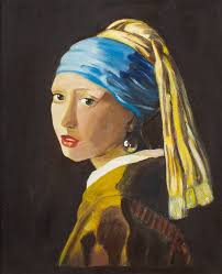 pearl earring painting saatchi study copy after vermeer s girl with a pearl earring