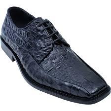 los altos black all over genuine crocodile square toe shoes