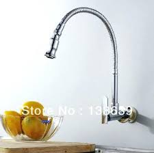wall mounted faucet kitchen single wall mount faucet buy luxury brass cold kitchen faucet