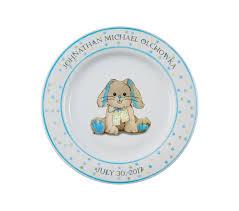 personalized baby plate personalized baby plate bunny mclaughlin glazeware