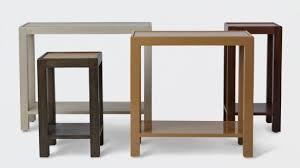 narrow side table narrow side table attractive w live edge stretcher handmade custom