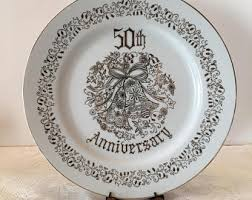 anniversary plates 50th anniversary norcrest china etsy