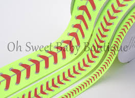 softball ribbon 1 5 softball ribbon neon yellow