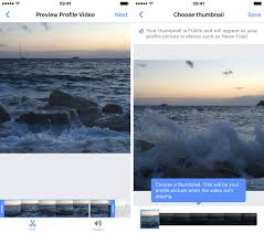 how to make a profile video in facebook u0027s ios app