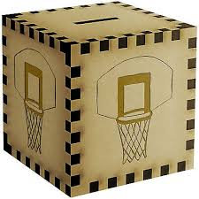 engraved piggy bank basketball net engraved wooden money box piggy bank