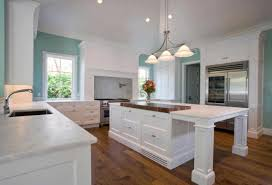Kitchens With Islands Ideas by With Woods And Gorgeous Wood Floors In White Kitchen White Wooden