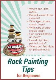 rock painting tips for beginners where to find rocks best