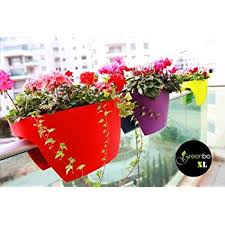red xl planter for balcony railing garden fences grow flowers