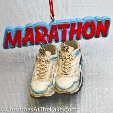 running ornament marathon at the lake