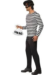 halloween costume robber bank robber mens burglar fancy dress cops u0026 robbers fancy dress