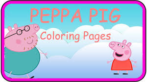 peppa pig coloring pages peppa coloring book with crayon peppa