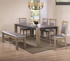 coaster dining room sets coaster ludolf dining table and chair set with bench value city