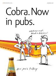 funny beer cartoon cobra beer u0027now you u0027re talking u0027 outdoor ad advertising showcase
