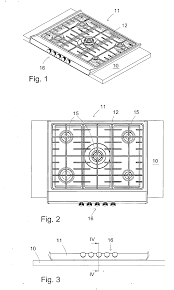 patent ep2390586a2 recessed stove top google patents patent drawing