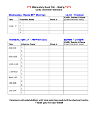 Safety Sign In Sheet Template Book Fair Master Sign Up Forms Pto Today