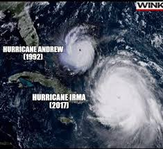 check out the size of irma compare to andrew 9gag