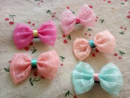 tulle hair bows 100pcs tulle pet hair bows hair for small dogs puppy