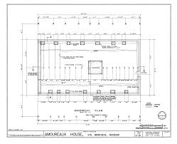 file basement floor and structural plan amoureaux house in ste