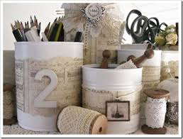 Shabby Chic Projects by Shabby Chic Craft Ideas Chic Tin Cans Are One Of My Favorite
