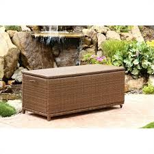 Patio Storage Ottoman Abbyson Living Palermo Outdoor Wicker Storage Ottoman In Brown