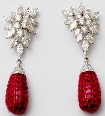 earing design fancy drop earrings in white gold jewelry trendy earring designs