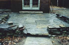 Irregular Stone Patio Jts Landscaping U0026 Lawncare Llc