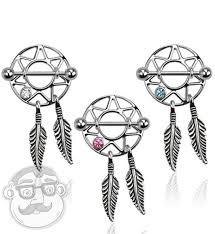 nipple rings images Dream ctacher cz diamond gem nipple ring shield14g jpg