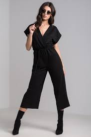 terry cloth jumpsuit sleeve wrap front leg drawstring waist terry