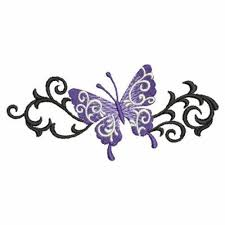 butterfly scroll border embroidery designs machine embroidery