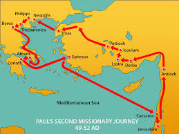 New Testament Map Priscilla And Aquila Mission Bible Class