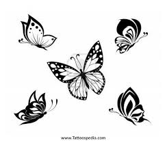 butterfly tattoos black and white 1