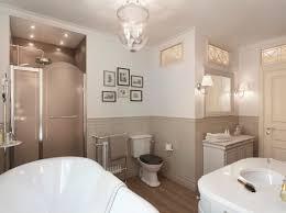 fancy classic bathroom lighting in home interior design concept