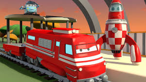 bigfoot presents meteor and the mighty monster trucks troy the train and the rocket spaceship in car city cars