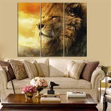 mordern lion oil painting animal landscape quadros decoration home