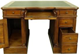 wood desk with glass top furniture stylish solid wood desk with glass top and file drawers