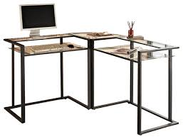 Computer Desk In Black Top Glass And Metal Computer Desk On Computer Desks Alanya