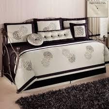 girls black and white bedding black metal daybed with ball finials and black and white bedding