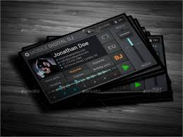 dj business cards templates free download immerse yours ml
