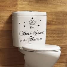 best seat the house toilet bathroom wall sticker best seat the house toilet bathroom wall