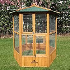 amazon black friday bird cages pets imperial stunning wooden bird aviary hexgonal design amazon