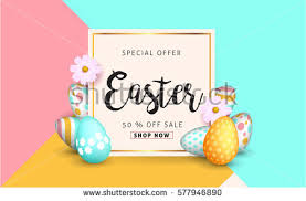 easter eggs sale easter sale banner background template beautiful stock vector