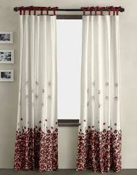Black And White Window Curtains Decorations Luxurious White Window Curtains With Flower