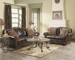 Ashley Living Room Furniture Sets Ashley Barcelona Antique Faux Leather Classic Sofa And Loveseat Set